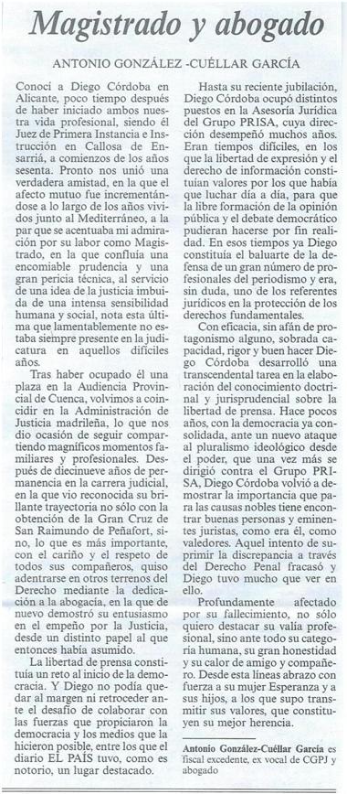 Artículo de Gomez-Cuellar sobre Diego Córdoba