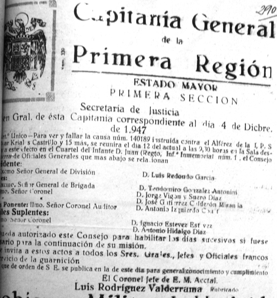 Documento oficial de la causa 140.189