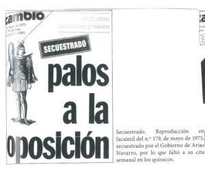 Portada Cambio 16 - Palos a la oposicion
