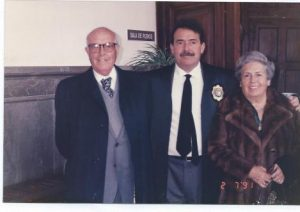 Juan Jose del Aguila y sus padres