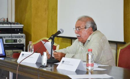 Juan José del Águila en la intervención del curso de San Roque