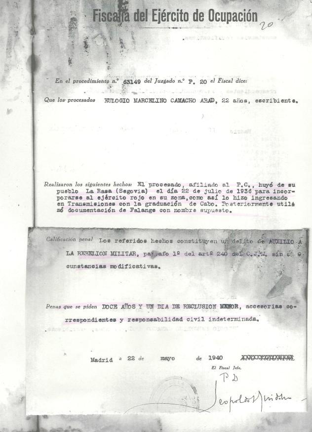 Ejemplo de justicia express franquista
