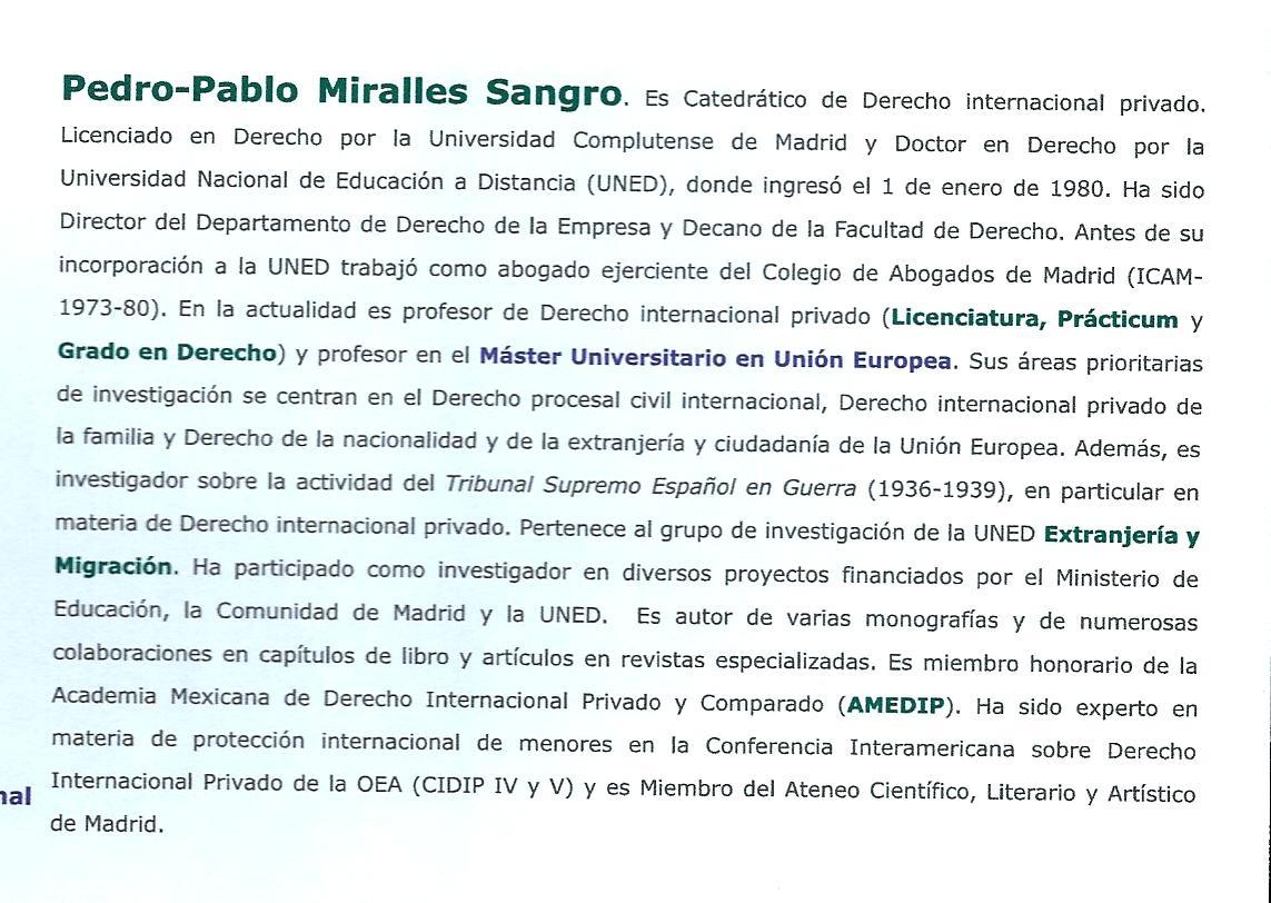 Perfil biográfico de Pedro-Pablo Miralles