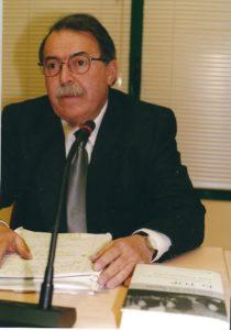 Juan José del Águila, en la presentación de la primera edición El TOP…., 17 de enero del 2002, en local de Formación y Empleo de CCOO de Madrid.