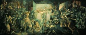 El Dictador, oleo sobre lienzo (1962),165 x 462). Museo Municipal de Ourense