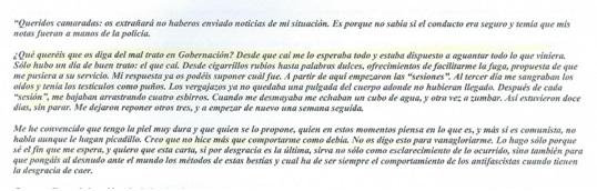 Carta de Cristino García