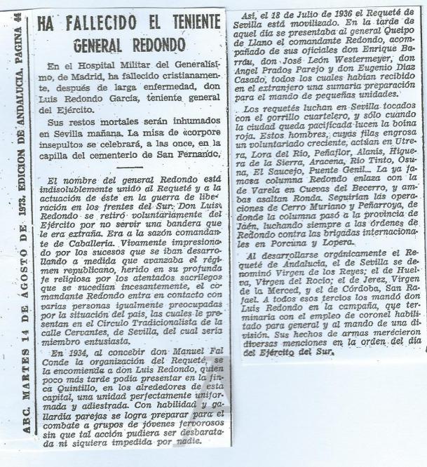 Obituario de Luis Redondo García