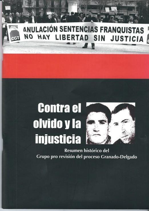 Portada de libro 'Contra el Olvido y la injusticia'.