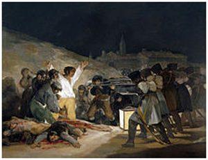 Los fusilamientos en la montaña del Príncipe Pío, de Goya.