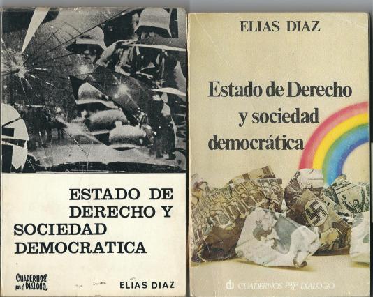 Portadas de las ediciones de 1966 y 1975 de libro de Elias Diaz