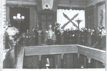 Solemne Acto de entronización del Sagrado Corazón de Jesús en el Colegio de abogados de Barcelona el 31 de mayo de 1940.
