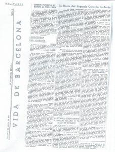 Noticia del periódico La vanguardia