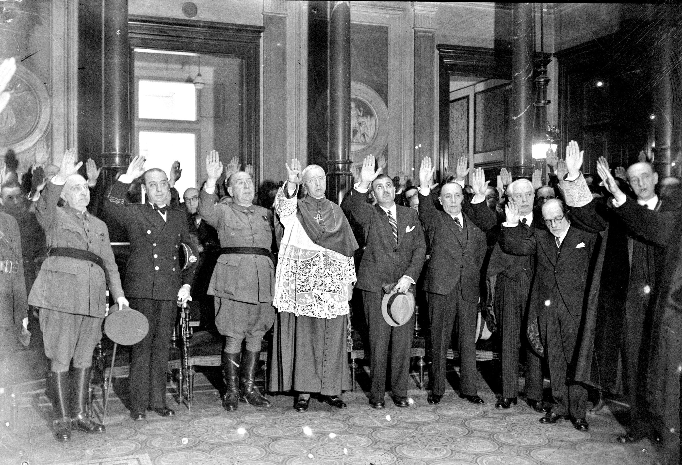 Saludo de la judicatura de Barcelona, 1940